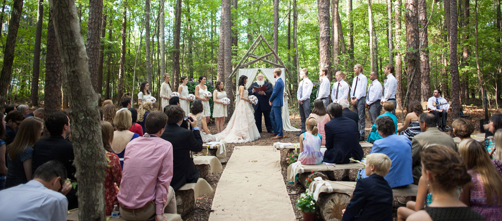 Wedding in the Woods at Timberlake Earth Sanctuary