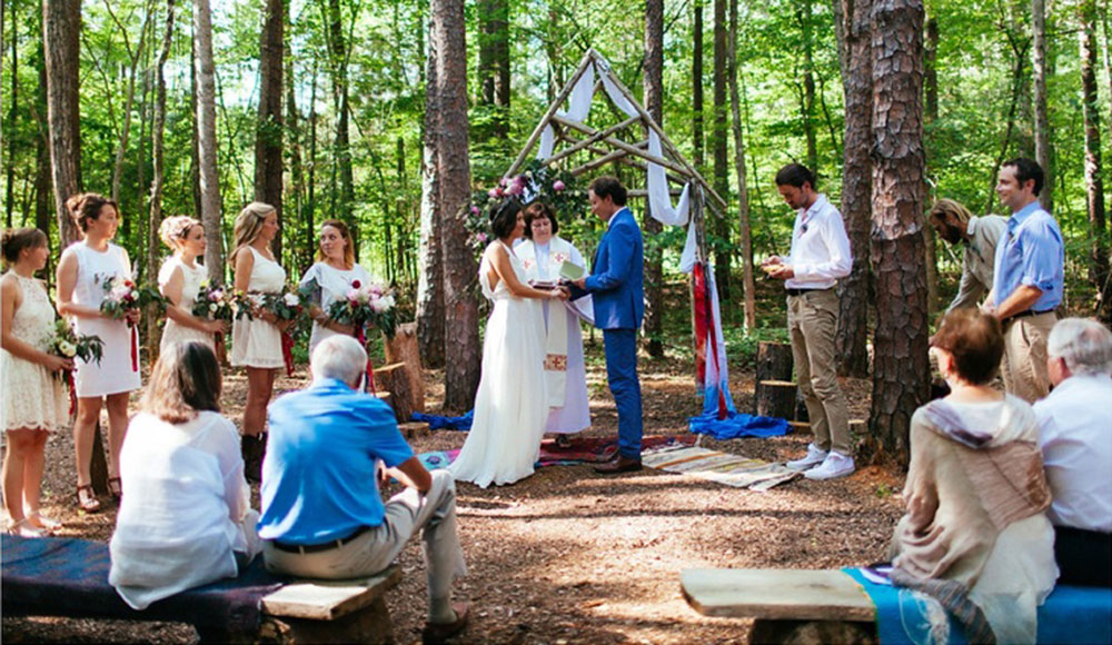 Celebrating a Wedding in the Woods at Timberlake Earth Sanctuary