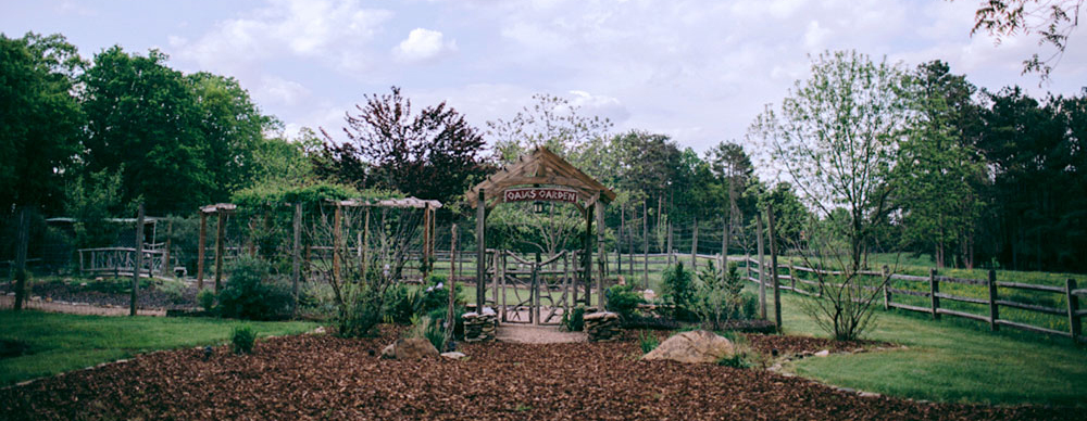Gaia's Garden Wedding Site at Timberlake Earth Sanctuary