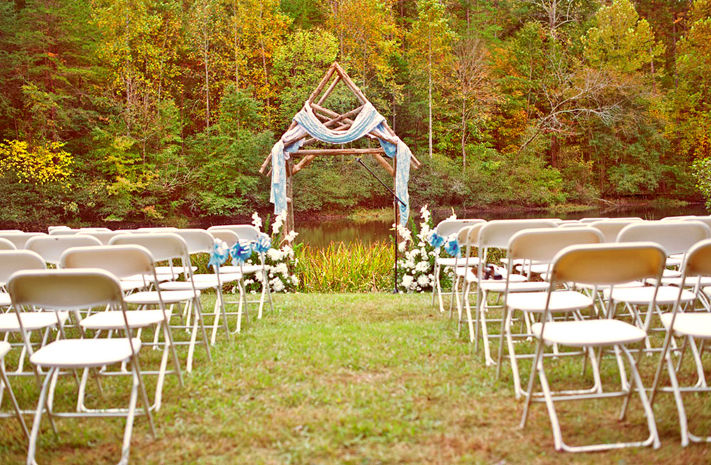 The Wedding Pond at Timberlake Earth Sanctuary